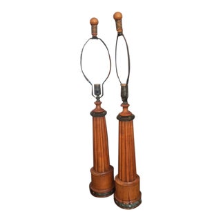 1940s French Lamps - a Pair For Sale