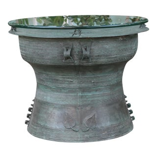 Southeast Asia Rain Drum Bronze Side Table