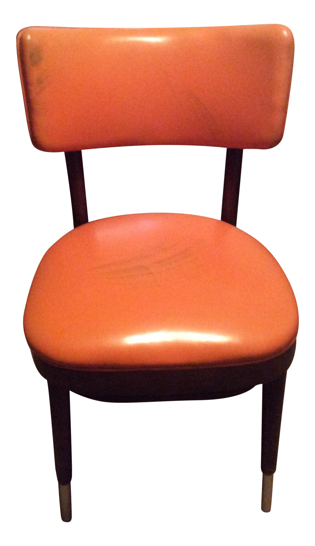 Shelby Williams Vintage Retro Orange Side Chair