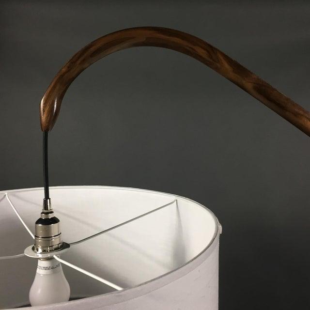Brown Daniel Oates Steambent Floor Lamp in Walnut For Sale - Image 8 of 10