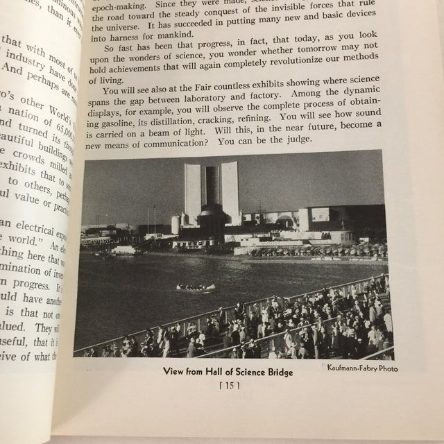 1933 Official Guide Book Chicago World's Fair Book For Sale In New York - Image 6 of 13