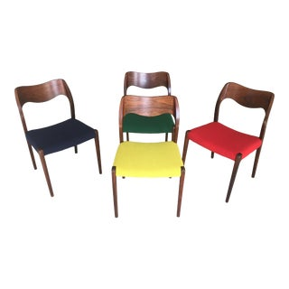 Mid-Century Modern Niels Otto Møller Rosewood Dining Chairs - Set of 4 For Sale
