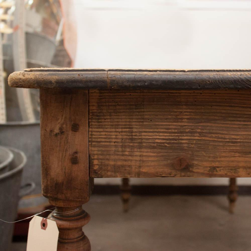 Spindle Leg Table #36 - Vintage French Spindle Leg Table - Image 5 Of 7