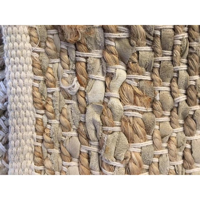 Leather & Fiber Woven Rug - 8′ × 10′ - Image 6 of 7