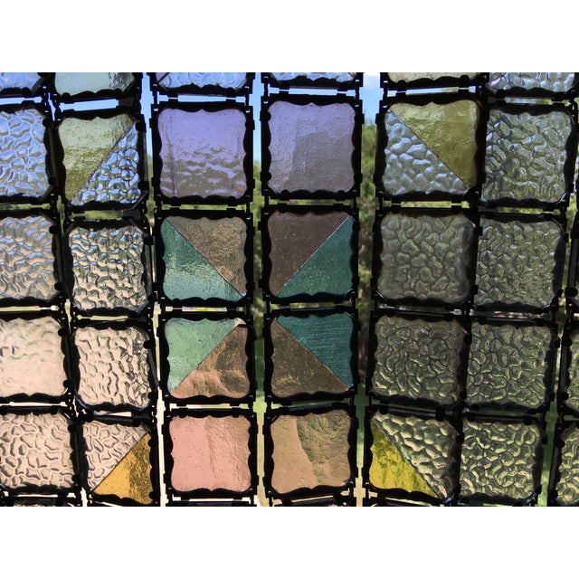Antique French Stained Glass Window Panel - Image 5 of 6