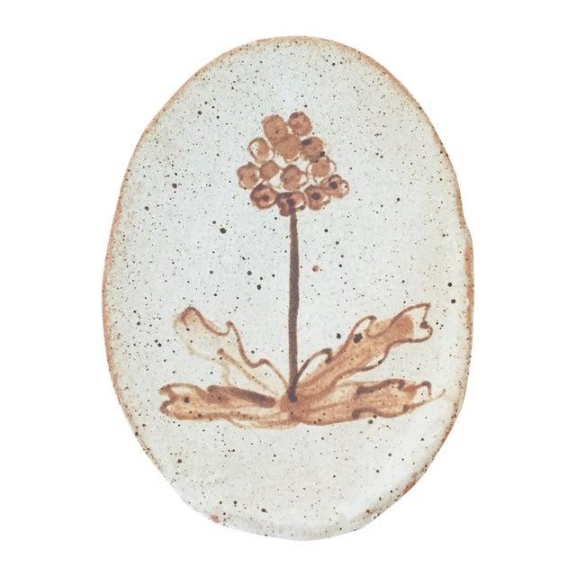 Vintage Boho Folk Art Studio Pottery Dish - Image 1 of 5