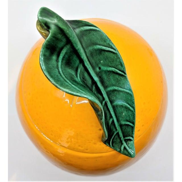 Mid-Century Modern Vintage Ceramic Orange Fruit Cookie Jar For Sale - Image 3 of 11