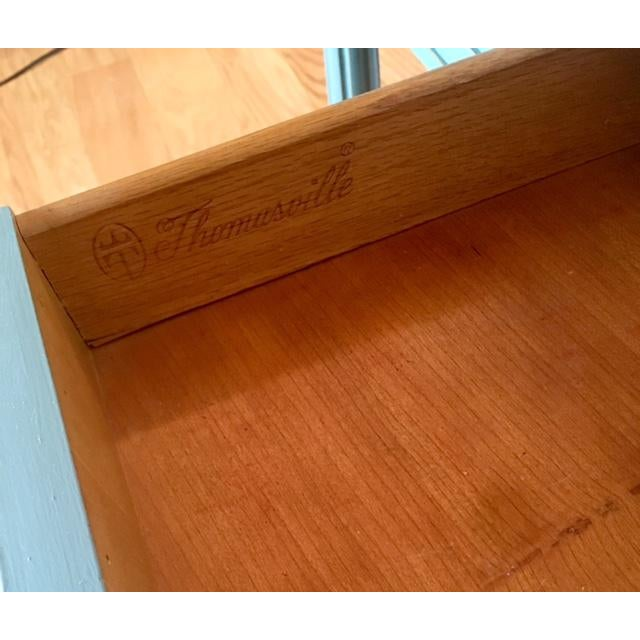 Thomasville Blue Wood Buffet / Server For Sale - Image 10 of 10