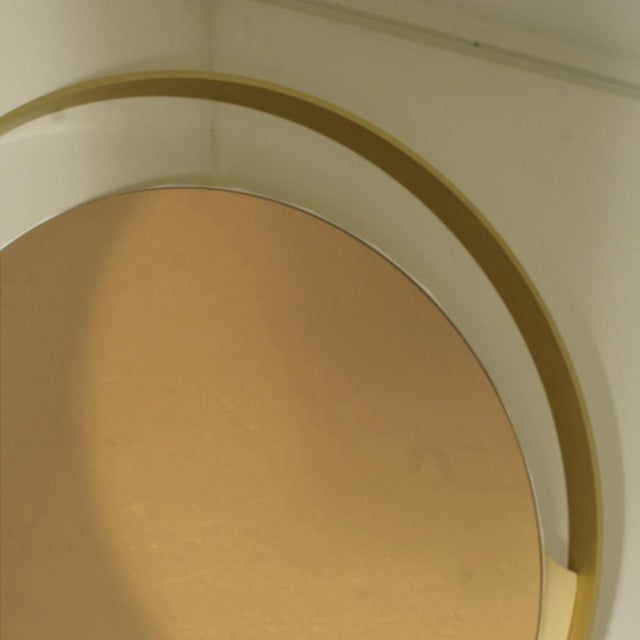 Italian Rimadesio Round Bronze Mirror For Sale - Image 3 of 4