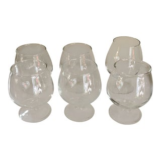 1970s Vintage Cognac Glasses Cordials- Set of 6 For Sale
