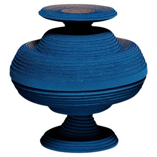 Blue Alchemy Vase by Siba Sahabi For Sale