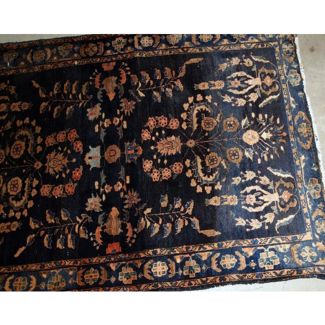 Textile 1920s, Handmade Antique Persian Sarouk Rug 3.3' X 5.4' For Sale - Image 7 of 9