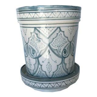 Modern Gray Safi Ceramic Planter For Sale