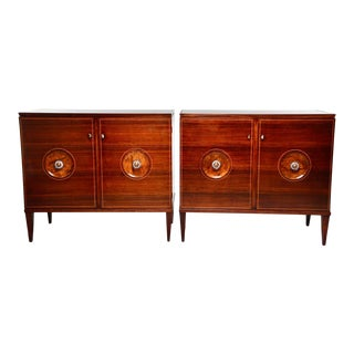 Italian Paolo Buffa Style Mid Century Bar Cabinets or Chests - Pair For Sale