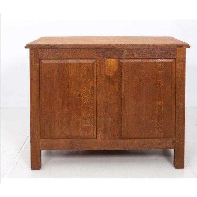 Vintage Bleached Oak Commode For Sale - Image 9 of 10