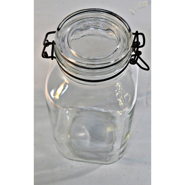 Ermetico Italian Clear Glass Canister For Sale - Image 5 of 10
