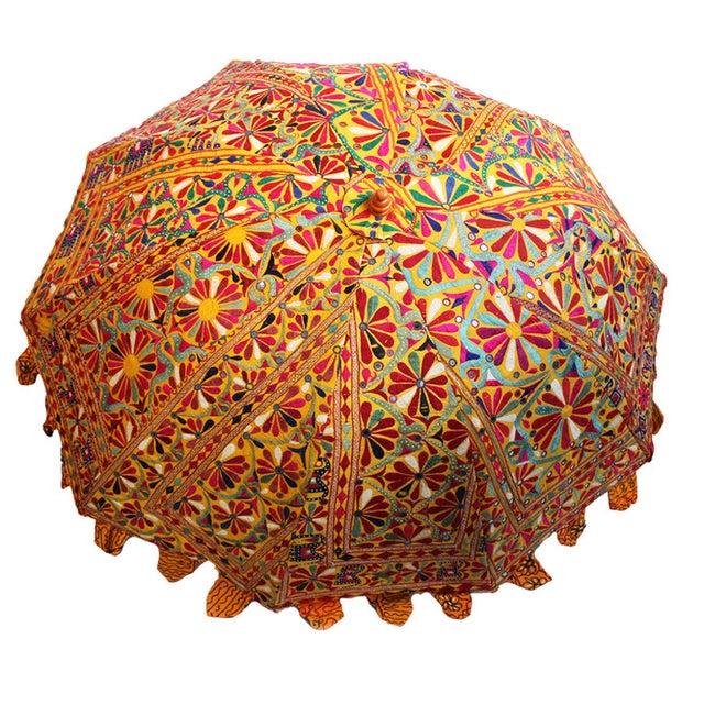 Embroidery & Mirror Work Umbrella - Image 4 of 5