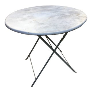 French Metal Folding Bistro Table
