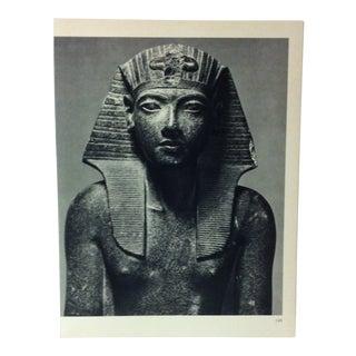 "Circa 1970 ""Pharaoh Tutankhamun"" XVIII Dynasty Great Sculpture of Ancient Egypt Print For Sale"