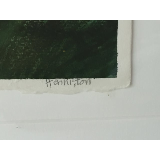 Modernist Abstract Landscape by Hamilton - Image 5 of 6