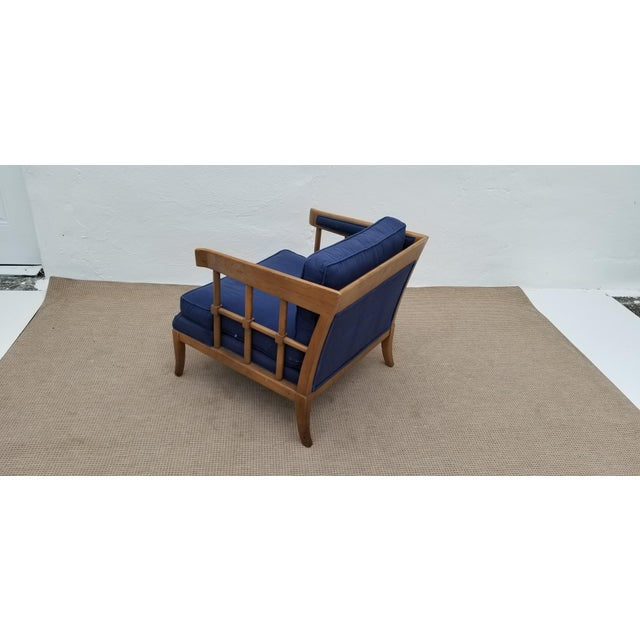 1970s Mid-Century Modern Barrel Back Club Lounge Chair For Sale - Image 4 of 12