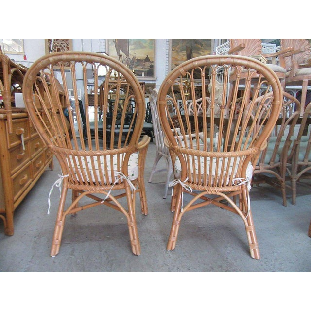 Island Style Rattan Chairs - A Pair - Image 5 of 7