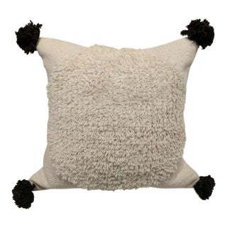 Wool and Cotton Tassel Pillow For Sale