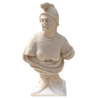 Marble Carving of Minerva For Sale