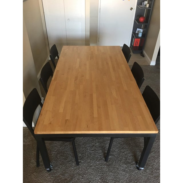 Room & Board Butcher Block Dining Room Table - Image 5 of 8