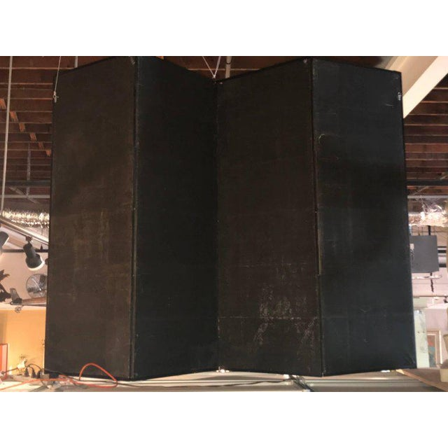 19th Century Four Panel Kano School Chinese Style Folding Screen or Room Divider For Sale - Image 11 of 13