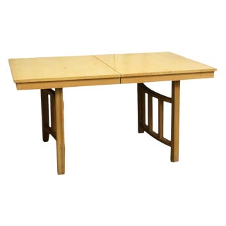 Late 20th Century Vintage Expandable Wood Table