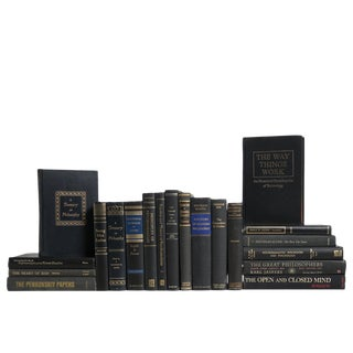 Vintage Black & Gold Book Set: Psychology & Philosophy For Sale