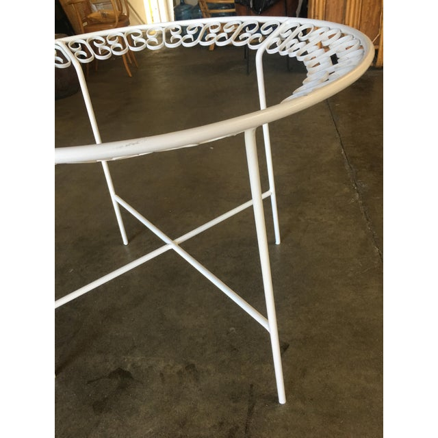 White Ribbon Patio/Outdoor Picnic Table by Maurizio Tempestini for Salterini For Sale - Image 8 of 9