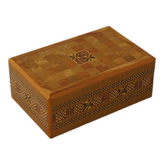 19th Century Asian Style Marquetry Box For Sale