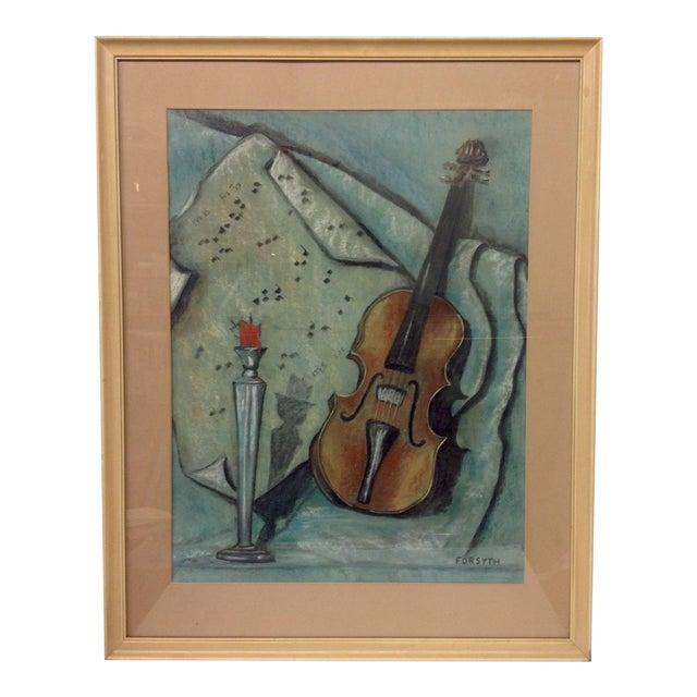 Original Forsyth Pastel Drawing on Strathmore Paper For Sale