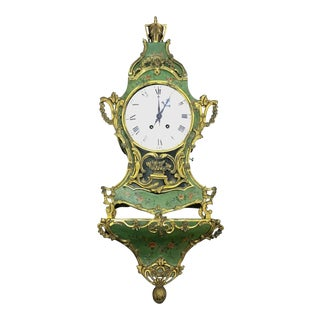 An 18th Century Louis XV Gilt-Bronze Mounted Chinoiserie Bracket Clock For Sale