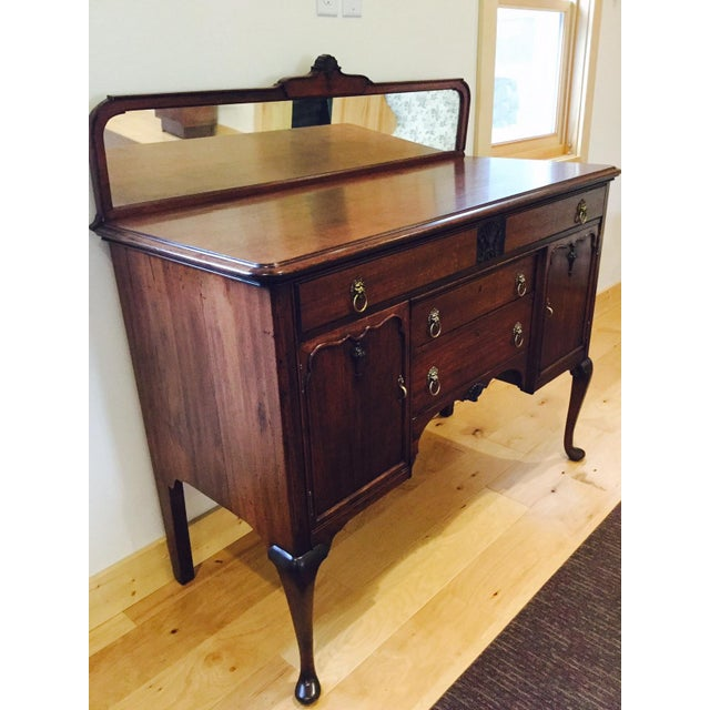 Antique Queen Anne Victorian Buffet For Sale - Image 4 of 10