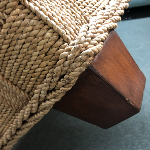 Ethan Allen Balta Seagrass Armchair For Sale - Image 5 of 9
