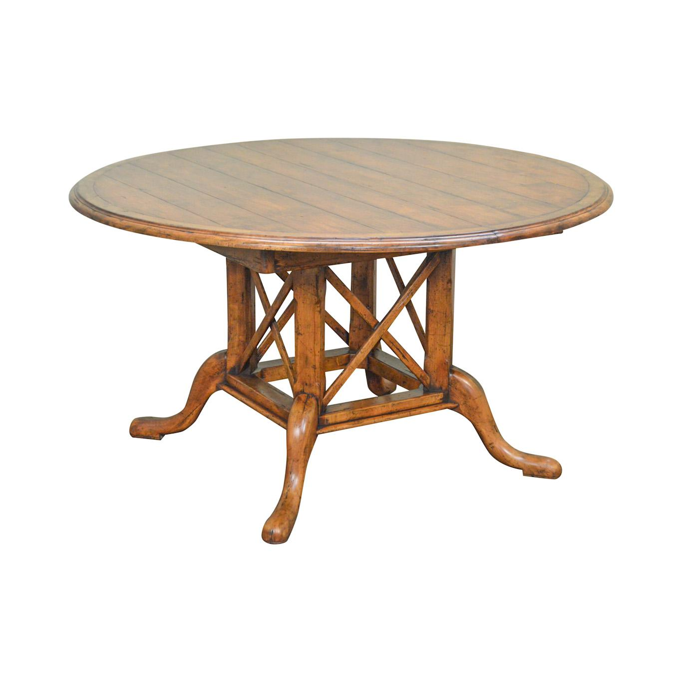 Guy Chaddock Kettering 54 Round Pedestal Dining Table W 2 Leaves
