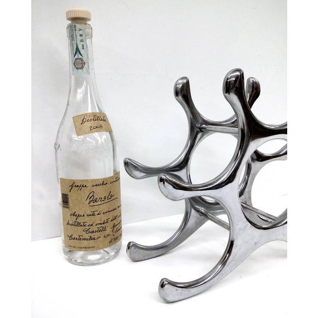 Polished Aluminum Wine Rack - Image 9 of 10