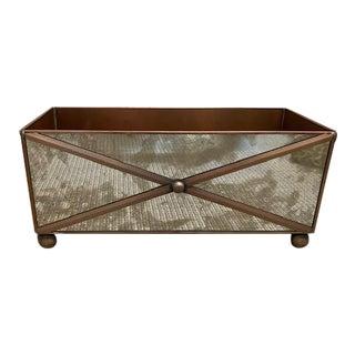 Copper & Mirror Planter Box For Sale