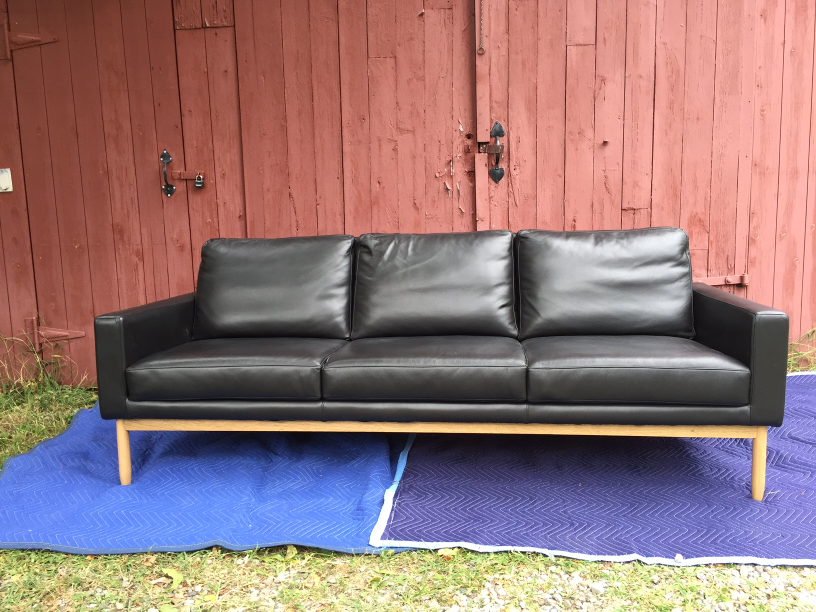 I Am Selling A Brand New Black Leather And Oak Raleigh Sofa From Design  Within Reach