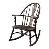 Image of Antique Windsor Rocking Chair For Sale