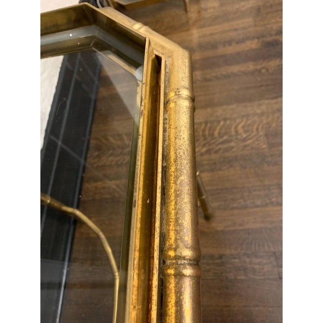 Vintage Hollywood Regency Brass Bamboo Tray Table For Sale In Nashville - Image 6 of 11