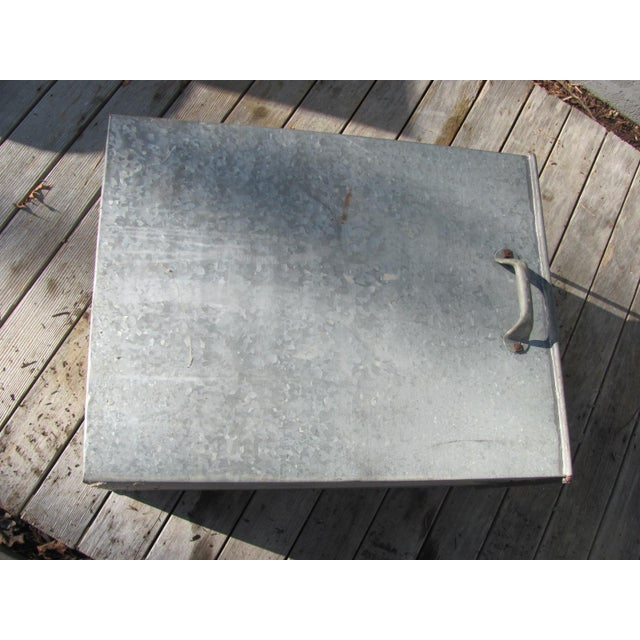 Metal Industrial Style Galvanized Steel Waste Basket For Sale - Image 7 of 13