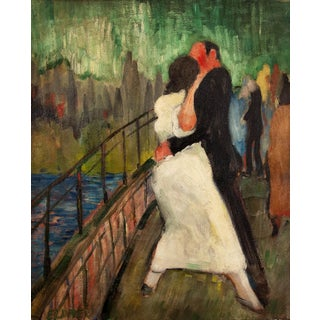 """""""The Dance"""" Oil Painting by Thomas Brownell Eldred, Circa 1930s For Sale"""
