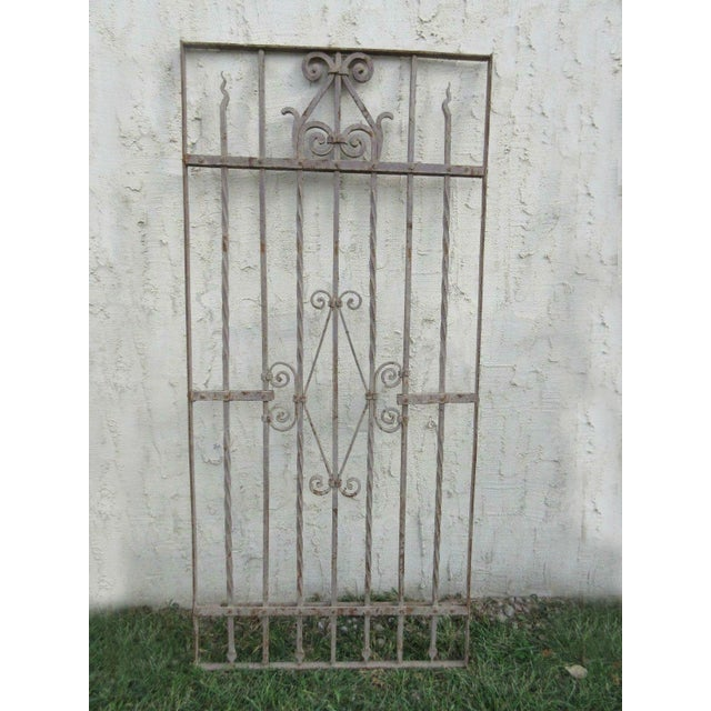Antique Victorian Iron Gate Architectural Salvage - Image 2 of 7