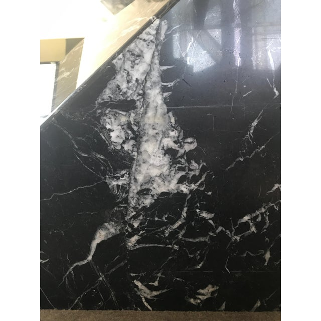 Artedi Nero Marquina Marble & Brass Coffee Table - Image 4 of 8