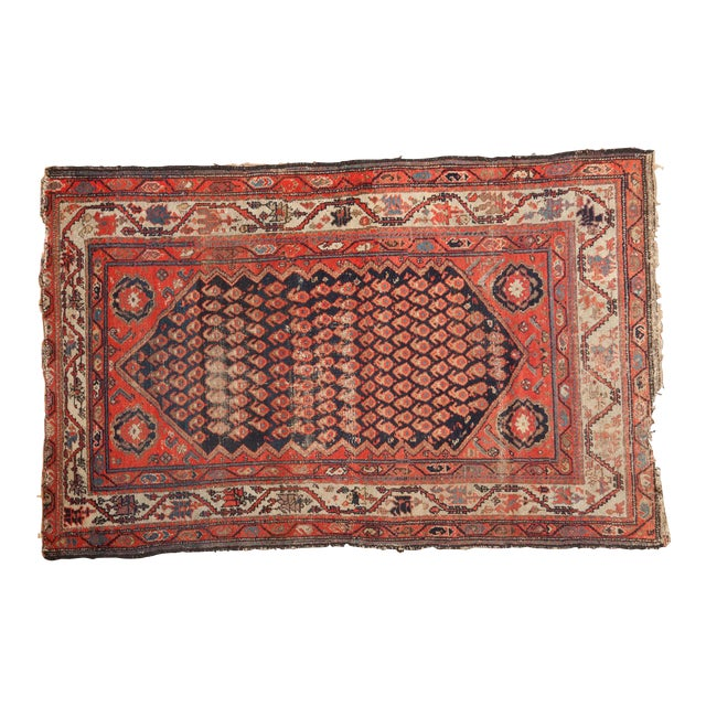 "Antique Hamadan Rug - 4' x 6'3"" For Sale"