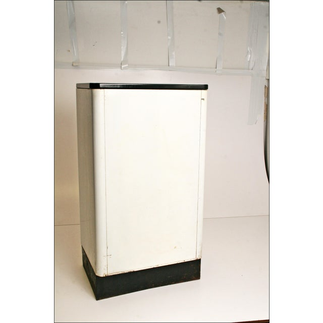 Mid-Century Enamel Top Metal Storage Cabinet - Image 11 of 11
